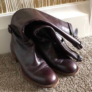 Brown knee high Chloe boots with heel 37